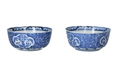 (-), A pair of blue and white porcelain...