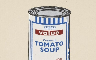 Banksy, British b.1974- Soup Can- Original Colourway, 2005; screenprint in colours on wove, numbered from the edition of 250 in pencil, published by Pictures on Walls, with their blindstamp, sheet 50 x 35.3cm (unframed) (ARR) Note: this work is...