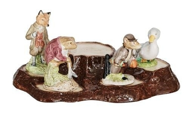 Beswick Beatrix Potter Figures Comprising: Johnny Town-Mouse with Bag; Mr....