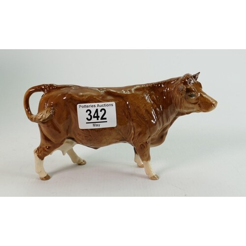 Beswick Limousin Cow 2075B: BCC98, boxed
