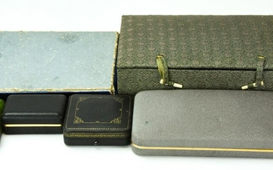 Collection Of Antique 19th & 20th C Jewelry Boxes