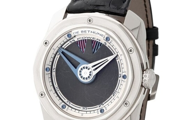 De Bethune. Fine and Unusual Prototype Preserie S5 Automatic Wristwatch in White Gold With Power Reserve Indication