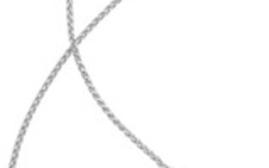 Diamond, White Gold Pendant-Necklace Stones: Full-cut diamonds weighing a...