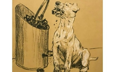 Early 1900's Lithograph, A Dog Day