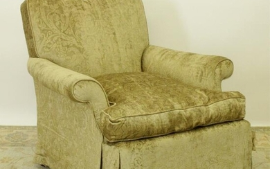 George III Style Upholstered Lounge Chair
