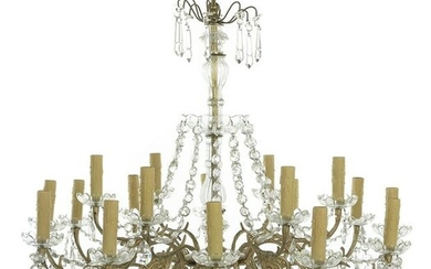 Gilt-Metal and Crystal Chandelier