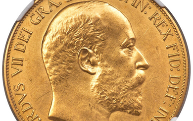 Great Britain: , Edward VII 4-Piece Certified gold Matte Proof Set 1902 NGC,... (Total: 4 coins)