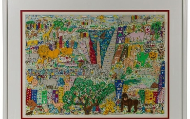 James Rizzi (American, 1950-2011) 'It's a Jungle Out