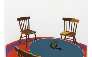 Ken Price: Chairs, Table, Rug, Cup (from Interior Series)