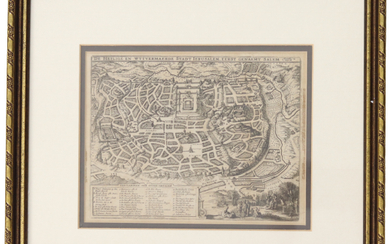 Map of Jerusalem and the Temple, 17th century.