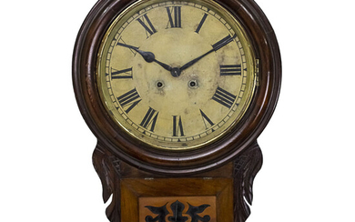 New Haven Wall Clock, USA, Early 20th Century.
