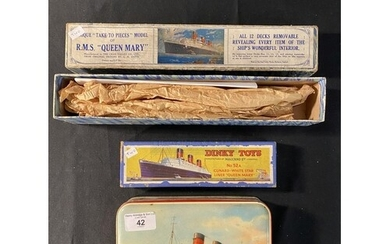 OCEAN LINER: Dinky Toys No. 52A. Cunard White Star liner Que...