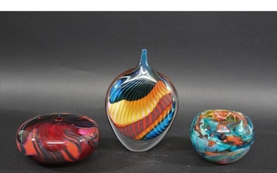 PETER LAYTON - CONTEMPORARY GLASS including a tear drop shap...