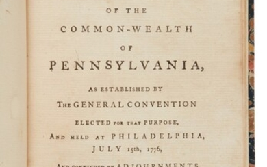 Pennsylvania   The first independent state constitution issued after the Declaration of Independence