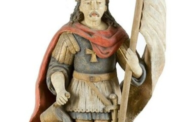 Sculpture of St Florian, protector of homes