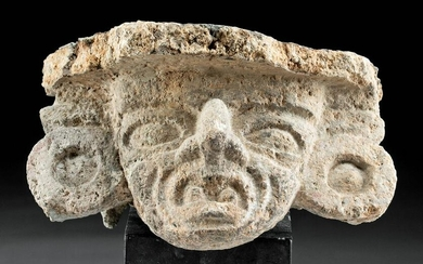 Teotihuacan Volcanic Stone Brazier of Huehueteotl Face