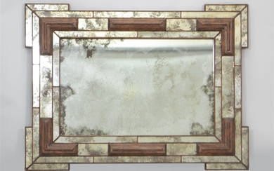 VENETIAN STYLE ANTIQUED MIRROR BY HOLLY HUNT