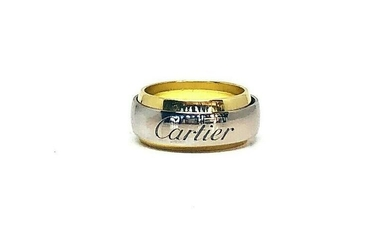 Vintage CARTIER 750 18K Yellow and White Gold Band Ring