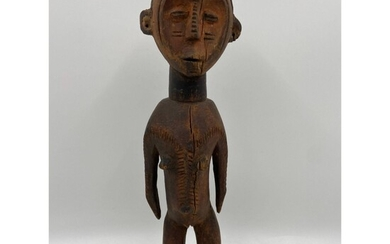 Vintage Hand-Carved African Statue Of A Man