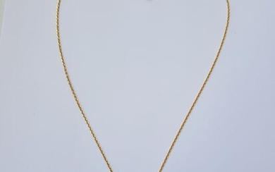 18 kt. Yellow gold - Necklace with pendant - 0.01 ct Diamond