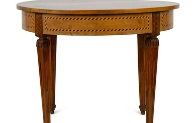 A Baltic Neoclassical Style Satinwood and Ebony Inlaid