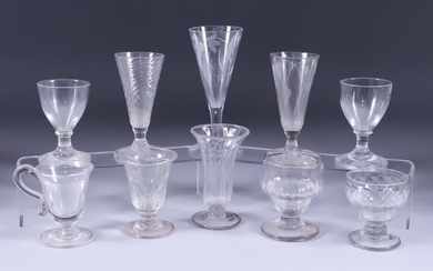 A Collection of English Table Glassware, 18th/19th Century, including...