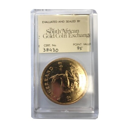 A GOLD ONE OUNCE KRUGERRAND MINTED 1967