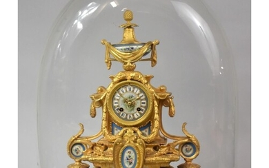 A Late 19th Century Gilded Spelter French Mantel Clock with ...