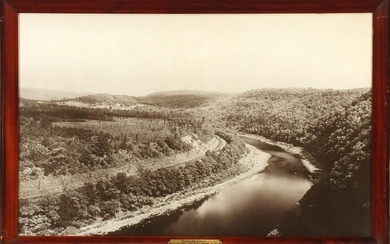 A PHOTOGRAVURE VIEW OF HAWK'S NEST ON THE ERIE RAILROAD