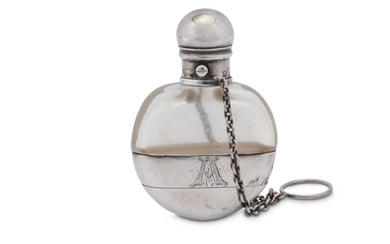 A Victorian sterling silver combination scent bottle