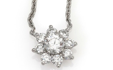 NOT SOLD. A diamond necklace set with numerous diamonds weighing a total of app. 0.77 ct., mounted in 18k white gold. L. app. 39-40.5-42 cm. – Bruun Rasmussen Auctioneers of Fine Art