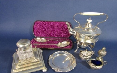 A good quality collection of silver plated items comprising ...