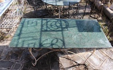 Beautiful top in ground green marble. - Marble - Late 20th century