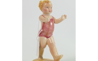 Beswick rare figure of a toddler in beach wear 375: height 1...