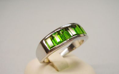 CHROME DIOPSIDE RING MEN'S RING SILVER 925.