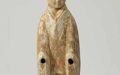 Chinese pottery female attendant, Han Dynasty