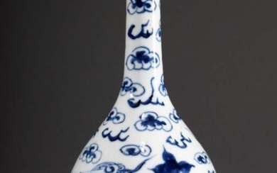 "Club-shaped vase ""Dragon between cloud swirls"" in Bleu de Hue,..."