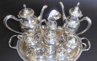 Coffee and tea service (9) - .800 silver - GREGGIO RINO - Italy - Second half 20th century