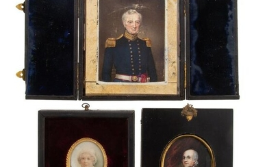 Collection of 3 Miniatures: Peters/Miller Family