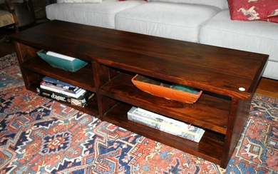 Contemporary Exotic Wood Coffee Table