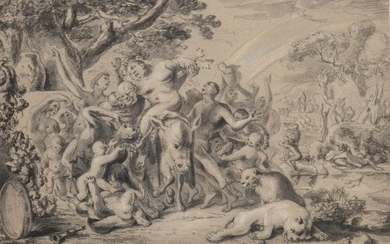 FLEMISH PAINTER, 17th CENTURY Bacchanal Pencil and charcoal on paper,...