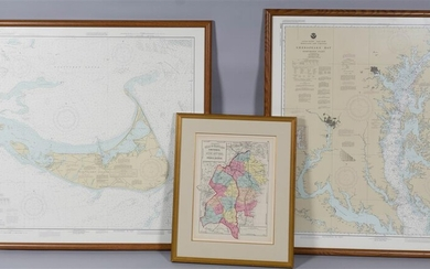 GROUP OF THREE FRAMED MAPS