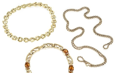 Group of Gold Necklaces