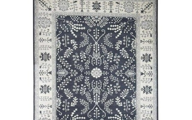 Hand-Knotted Turkish Knot Oushak Pure Wool Oriental Rug