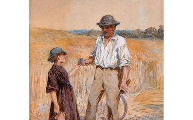 Henry Townley Green (1836-1899) British. A Man and Child in ...