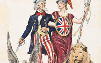 JAMES MONTGOMERY FLAGG (1870 1960) SIDE BY SIDE BRITANNIA