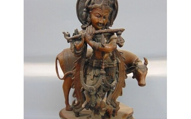 Large heavy good quality Indian bronze character group of a ...