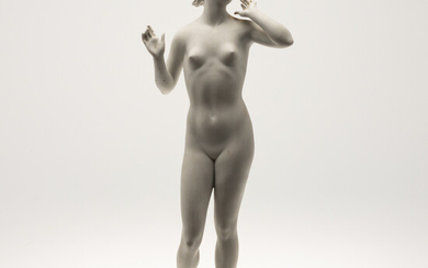 MAX HERMANN FRITZ. Rosenthal, figure / sculpture, female nude, porcelain, Germany, 1. Half of the 20th century.