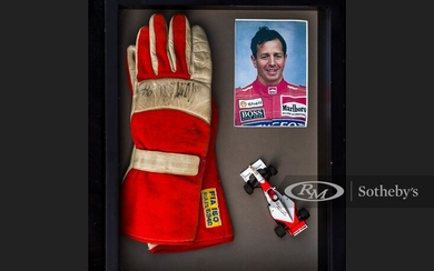 Martin Brundle Race Worn and Signed Gloves