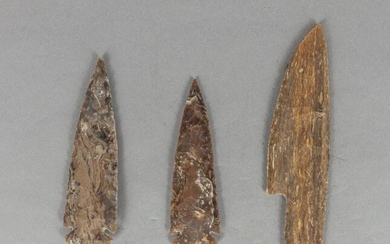 Set Collectible Native American Miwok Type Spear Tips